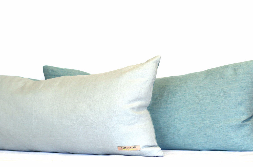 H2O Linen + Water Linen / Big Long Pillow