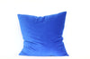 Cobalt Velvet + Cobalt Linen / Big Floor Pillow