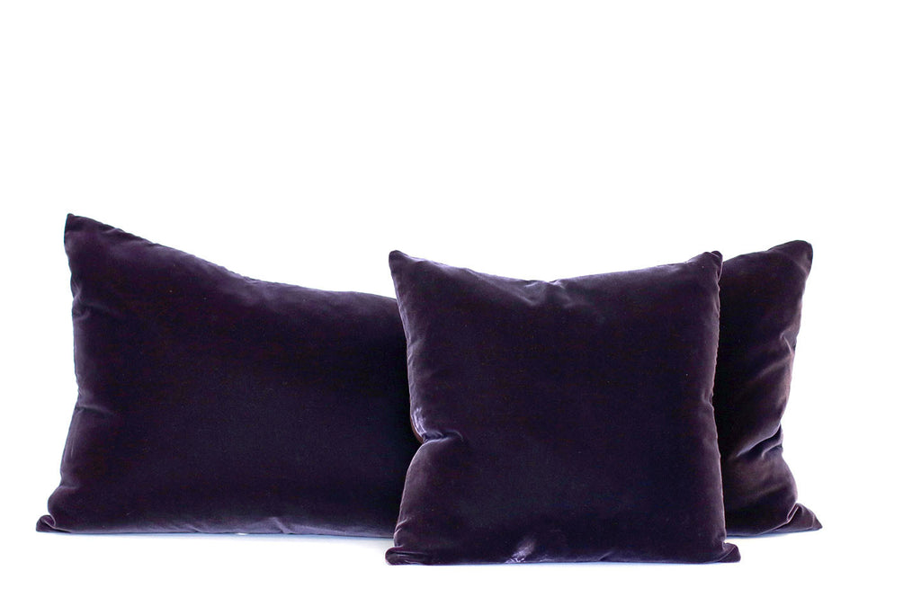 Aubergine Velvet + Linen / Medium and Small