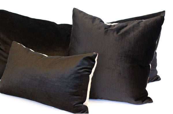 Black Velvet + Linen / Medium and Small