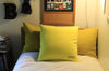 Mustard Velvet + Neon Yellow / Medium Square