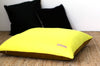 Mustard Velvet + Neon Yellow / Big Floor Pillow