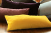 Mustard Linen + Natural Linen / Big Long Pillow