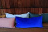 Cobalt Velvet + Cobalt Linen / Big Long Pillow