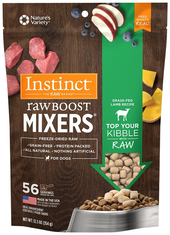 6 Instinct Freeze Dried Raw Boost Mixers Grain + 4 Pure Freeze Dried Salmon Filet Treats for Dogs & Cats