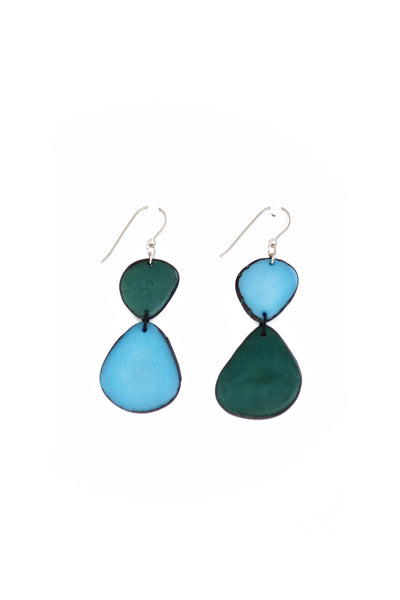 Akin Earrings - Aqua