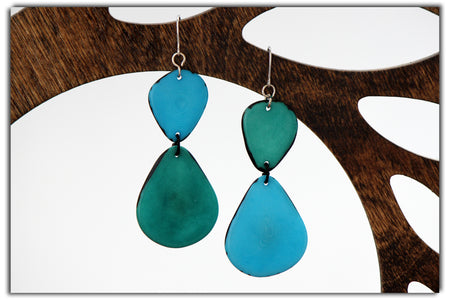 Loop Tagua Earrings
