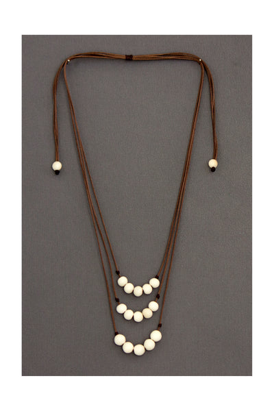 Fair trade Allium necklace