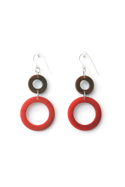 Stylish and neat environmentally friendly earrings
