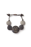 Glissando tagua bracelet in river rock