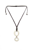 Ivory tagua necklace handmade in the USA
