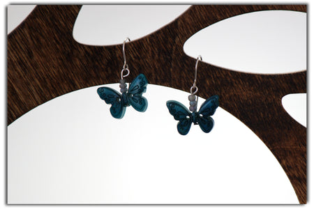 Jakaranda Morning Star Tagua Earrings