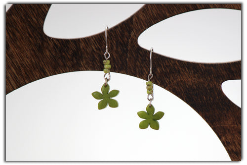 Jakaranda Flower Tagua Earrings