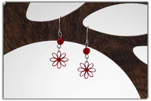 Jakaranda Morning Star Earrings