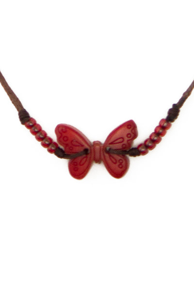 Cheerful handmade butterfly necklace