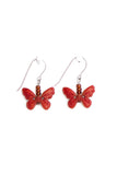 Cheerful handmade butterfly earrings