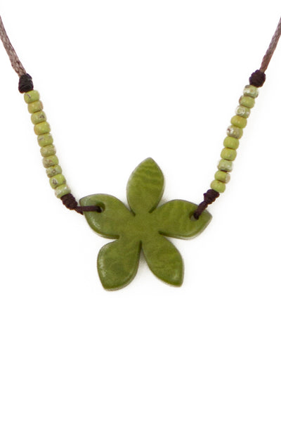 Cute handmade flower necklace
