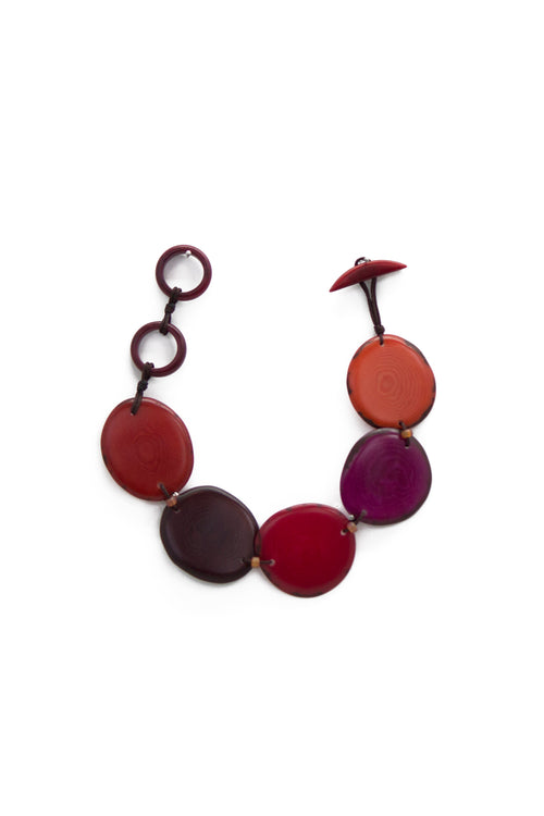Fashionable and Refined Sustainably Sourced Leilani Bracelet in Poppy