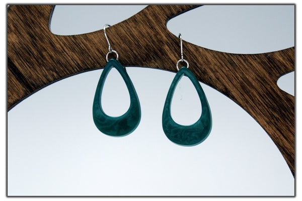 Oval Tagua Earrings