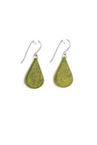 Dangling, tagua teardrop earrings