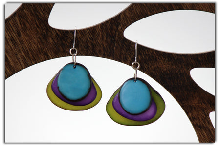 Leaf Tagua Earrings