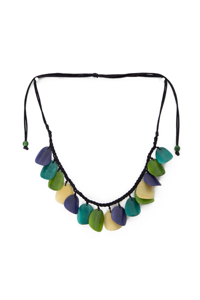 Dynamic, hand made, tagua necklace