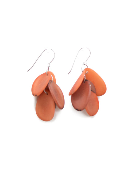 Dynamic, hand made, tagua earrings