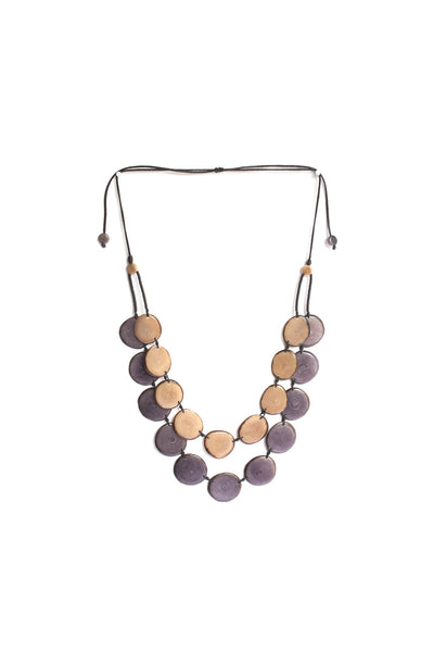 River Rock Aurora necklace consists of beautiful renewable tagua beads