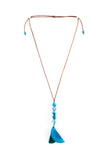 Cool and Airy Tagua Caminos Necklace in Aqua