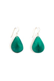 Fair trade, handmade tagua leaf earrings