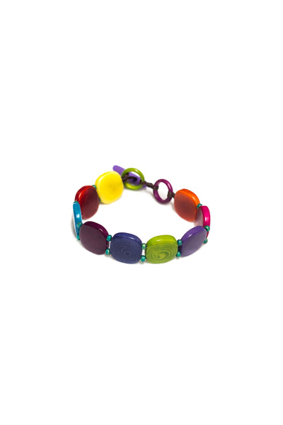 Miel bracelet with tagua beads and glass beads
