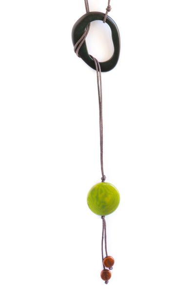 Contemporary, lariat tagua necklace