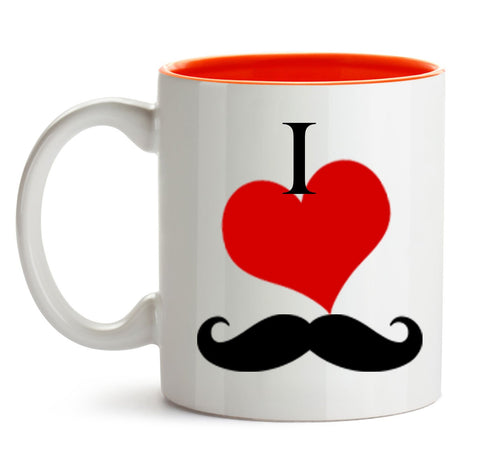 I LOVE MUSTACHE COFFEE MUG