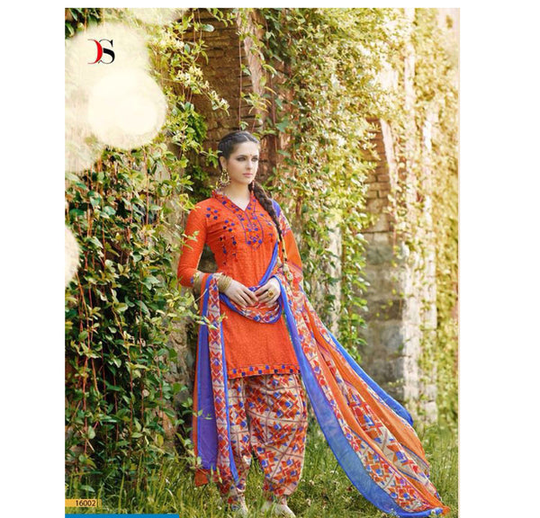 Phulkari Salwar Suit with Dupatta - Fashion In Punjab
