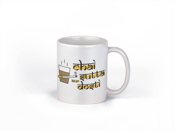 Chai Sutta aur Dosti - Coffee Mug - Fashion In Punjab