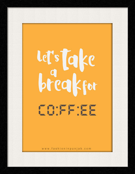 Coffee Break -  Framed Wall Art by Fashion In Punjab