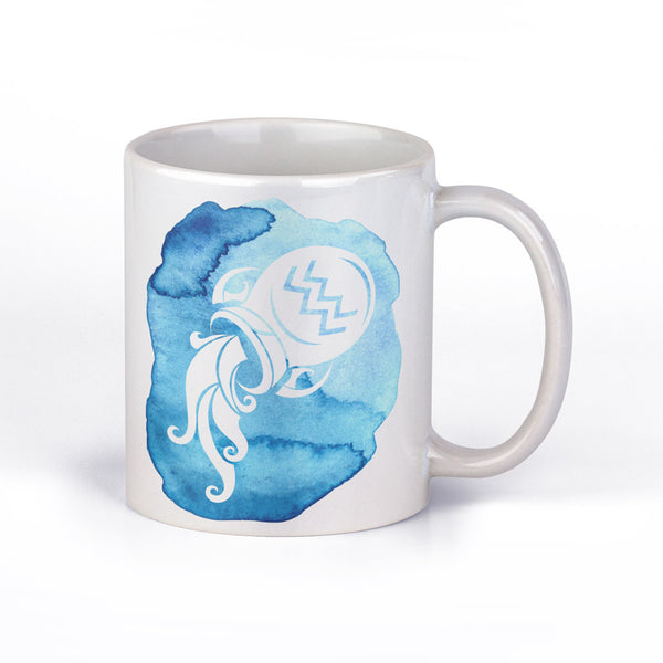 Coffee Mug with Aquarius Horoscope Sign by Fashion In Punjab - Fashion In Punjab