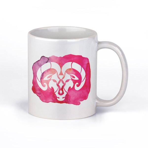 Coffee Mug with Aries Horoscope Sign by Fashion In Punjab - Fashion In Punjab