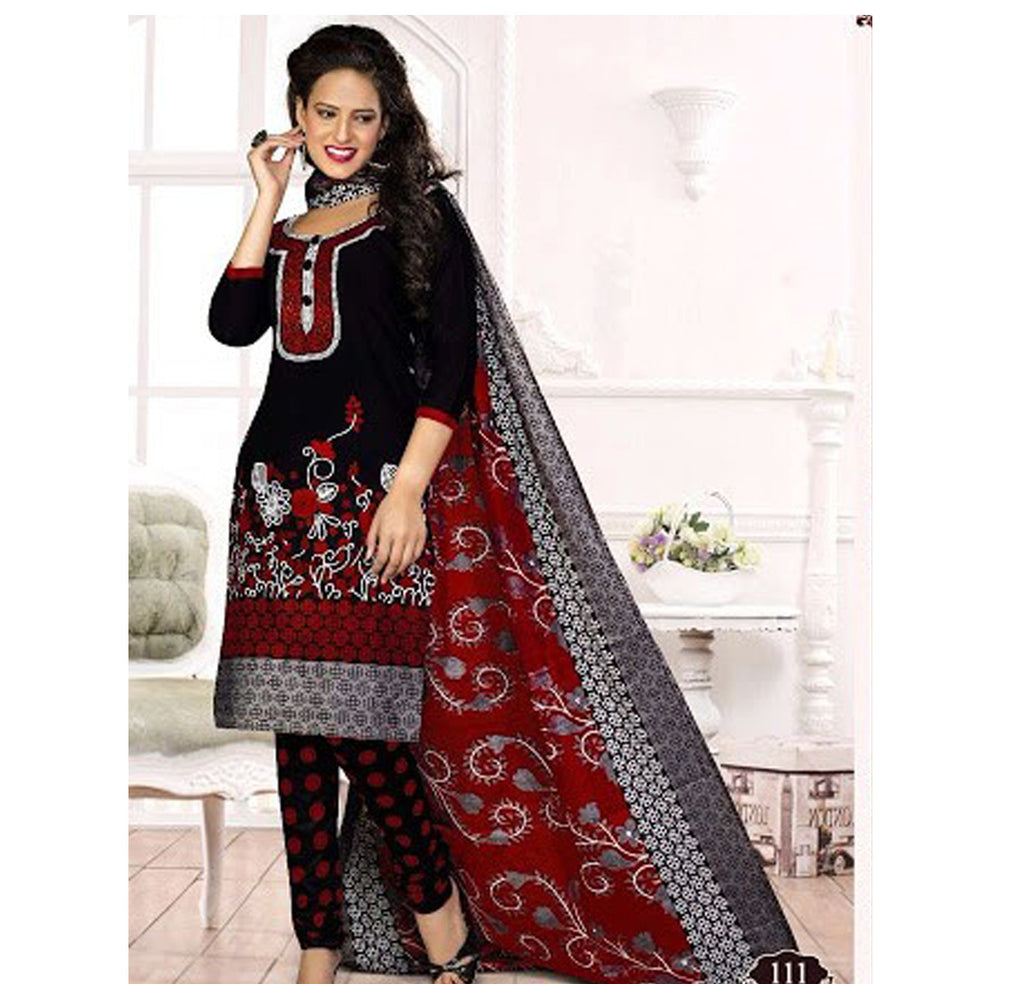 Black Salwar Suit with Dupatta - Fashion In Punjab