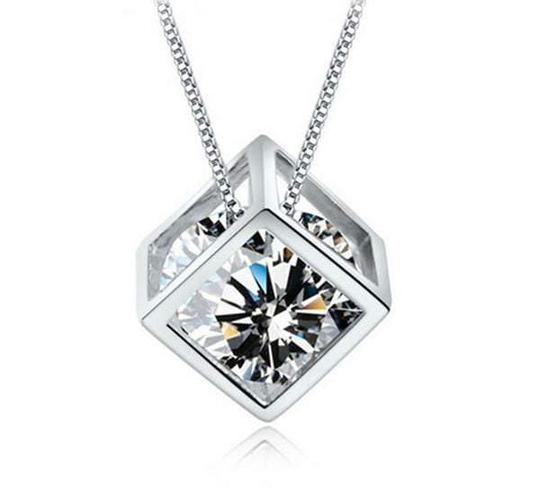 Love Cube Crystal Pendant. - Fashion In Punjab