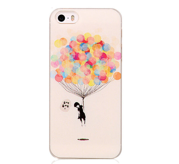 Balloon Pattern Painted On Hard Case Cover For Apple iPhone 5 5S and SE - Fashion In Punjab