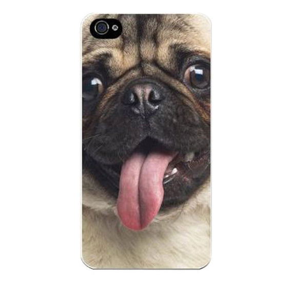 Cute Pug Face Painted On Plastic Hard Cover For Apple iPhone 5, 5S, SE - Fashion In Punjab