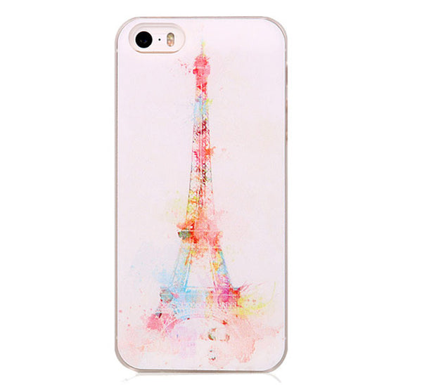 Eiffel Tower Pattern Painted On Hard Case Cover For Apple iPhone 5 5S and SE - Fashion In Punjab