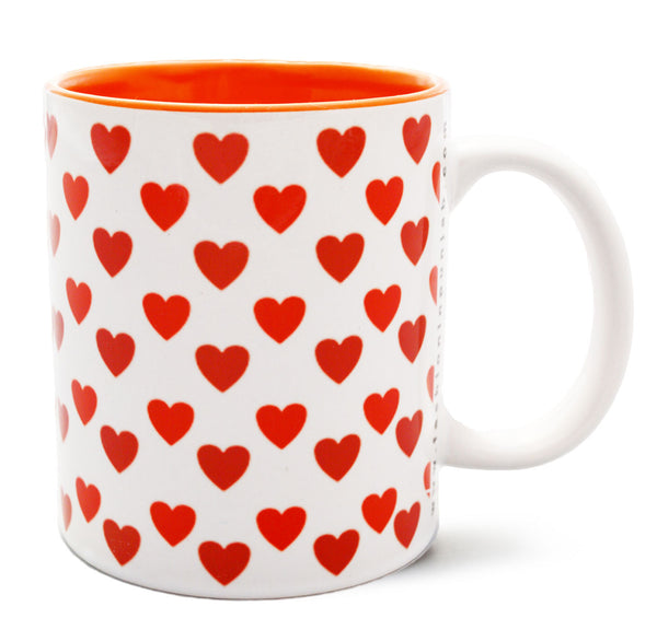 Heart Print COFFEE MUG - Fashion In Punjab