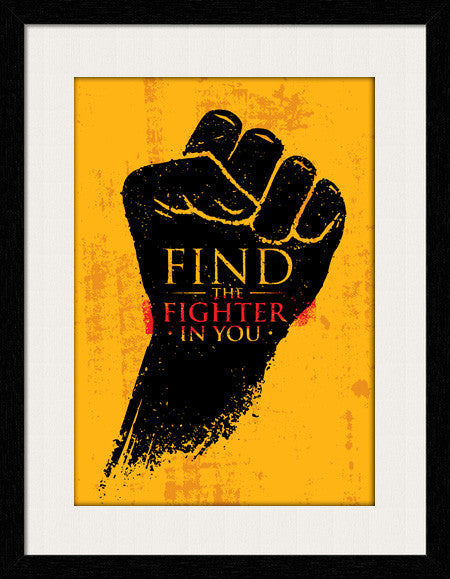 Find The Fighter In You - Framed Wall Art by Fashion In Punjab