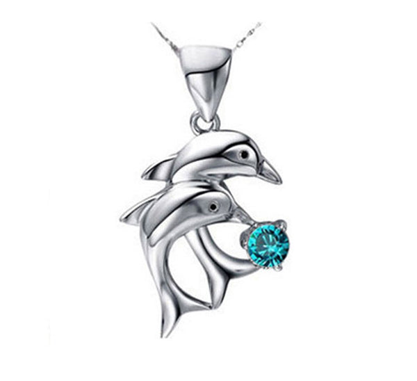 Double Dolphin Pendant. - Fashion In Punjab