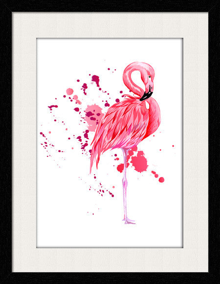 Fun Flamingo - Framed Wall Art by Fashion In Punjab