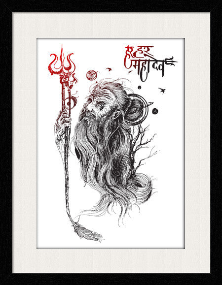 Load Shiva - Framed Wall Art - Fashion In Punjab