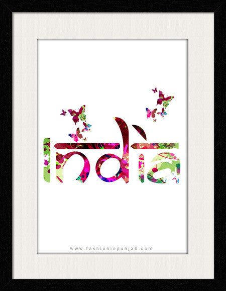 India - Framed Wall Art - Fashion In Punjab