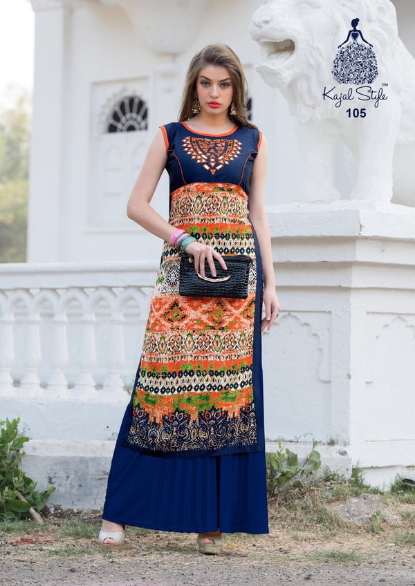 Punajbi Kurti - Multicolour Rayon Kurti by Fashion In Punjab
